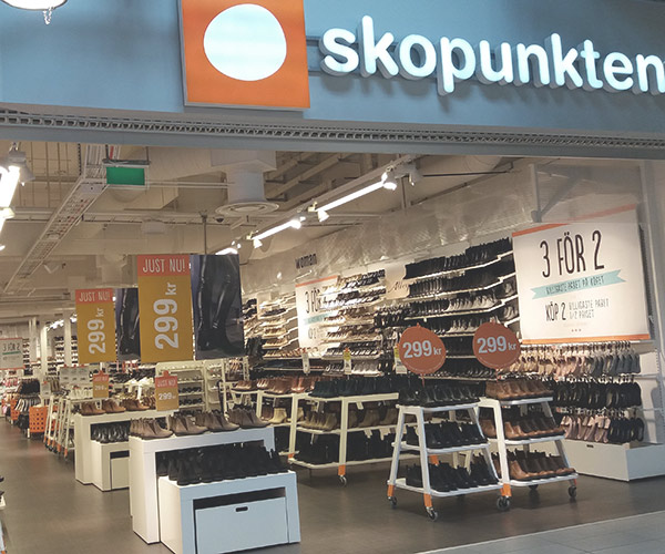 Skor fr n skopunkten mobilia shopping center feetfirst se for Mobilia store