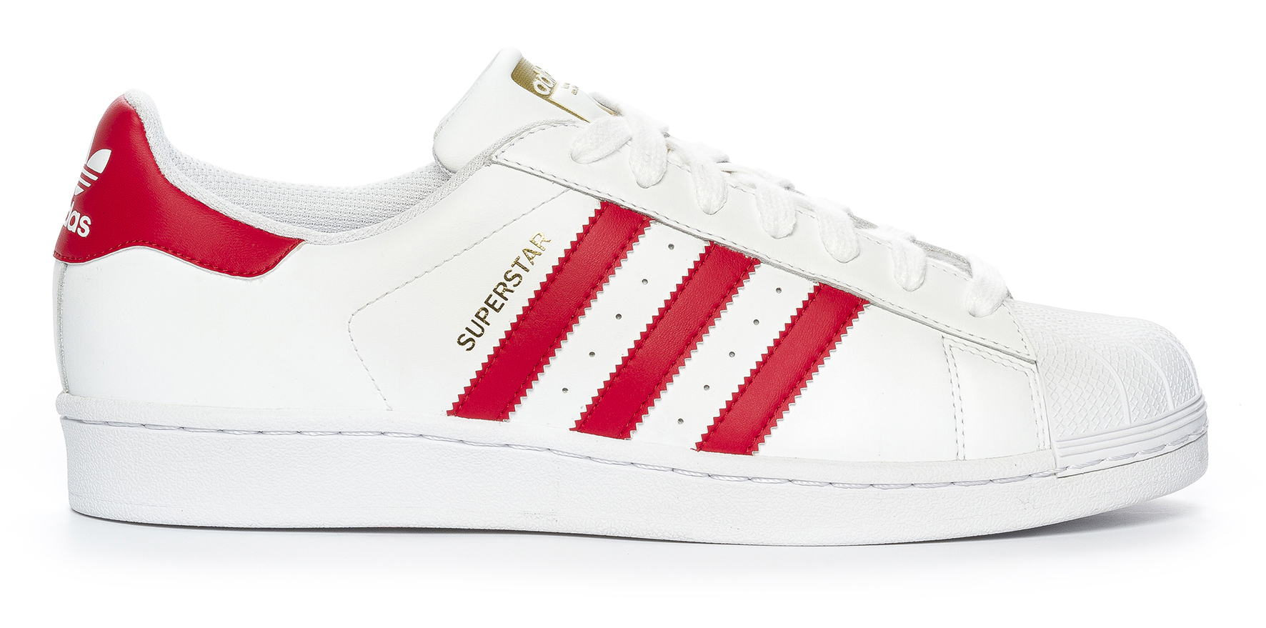 adidas superstar dam röd