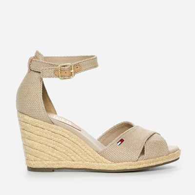 Tommy Hilfiger Lala Wedge - Beigea 299479 feetfirst.se