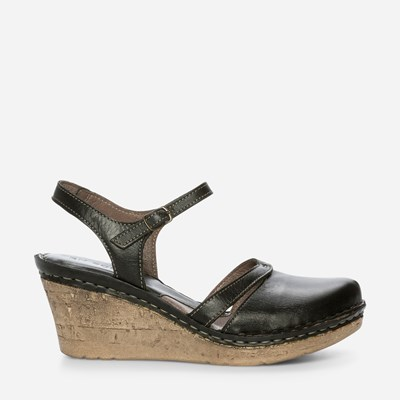 Ten Points Chiara Wedge - Svarta 305978 feetfirst.se