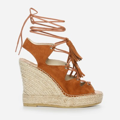 Vidorreta Andrea High Lace Wedge - Bruna 306893 feetfirst.se