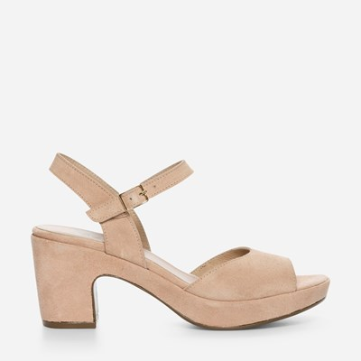 Wonders Plain Low Sandal - Rosa 307959 feetfirst.se