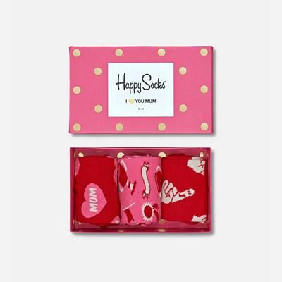 Happy Socks Gift Box 36-40 - Rosa 309551 feetfirst.se