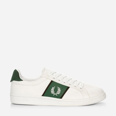 Fred Perry B721 Canvas - Vita,Vita 322513 feetfirst.se