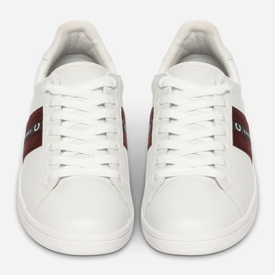Fred Perry B721 Leather/Tape - Vita,Vita 322516 feetfirst.se